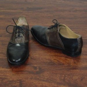 Cole Haan Grand OS Black & Brown Dress Shoes Sz 10